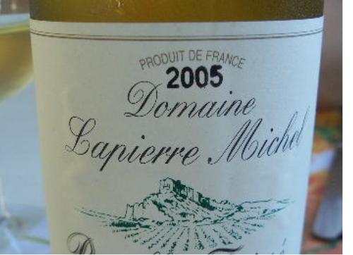Pouilly Fusee white burgundy