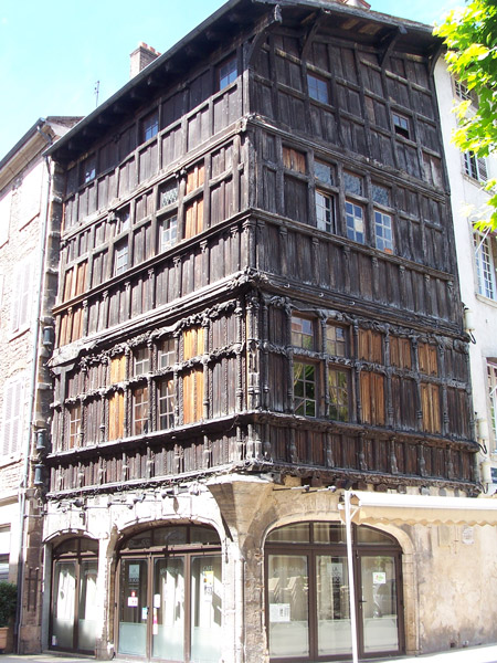 15thC wooden house, Macon