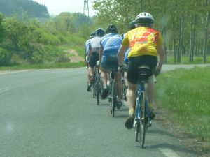 Cyclists training