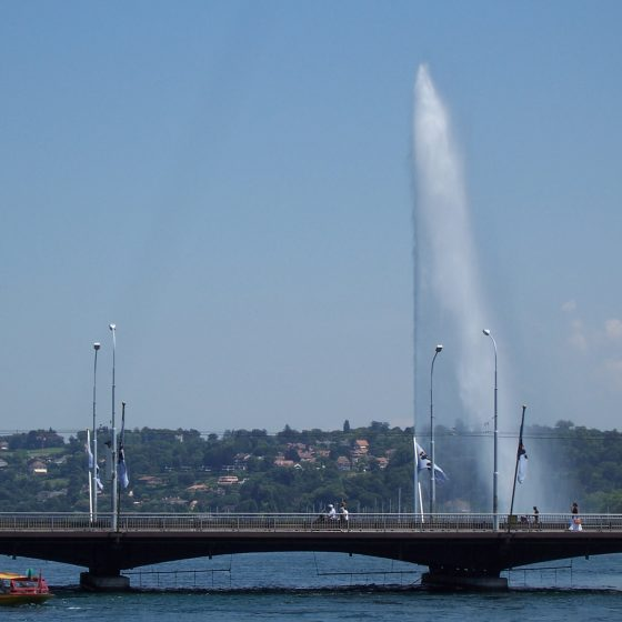Lake Geneva fountain