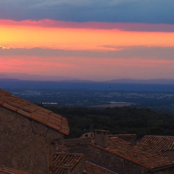 Sunset across Provence, Venasque