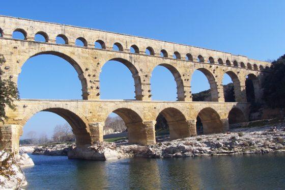 Pont de Gard aqueduct in Provence