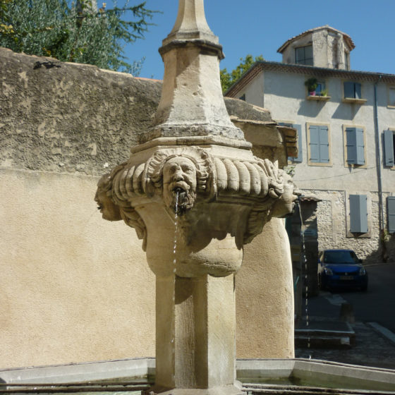 One of Pernes famed fountains